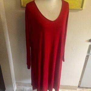 Daily ritual knit dress red long sleeve Sz 3X
